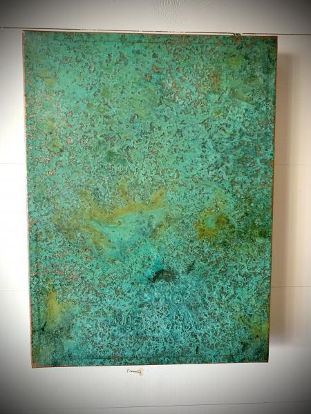 Fabricated Copper Panel w Patina