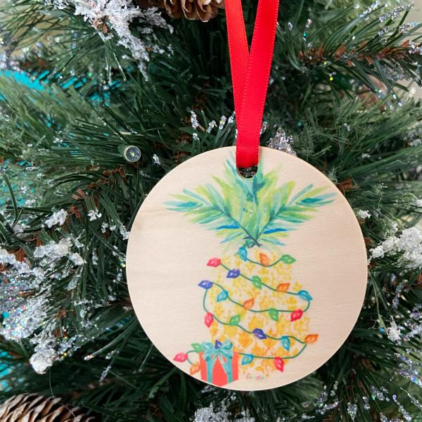 Wood Holiday Ornament picture