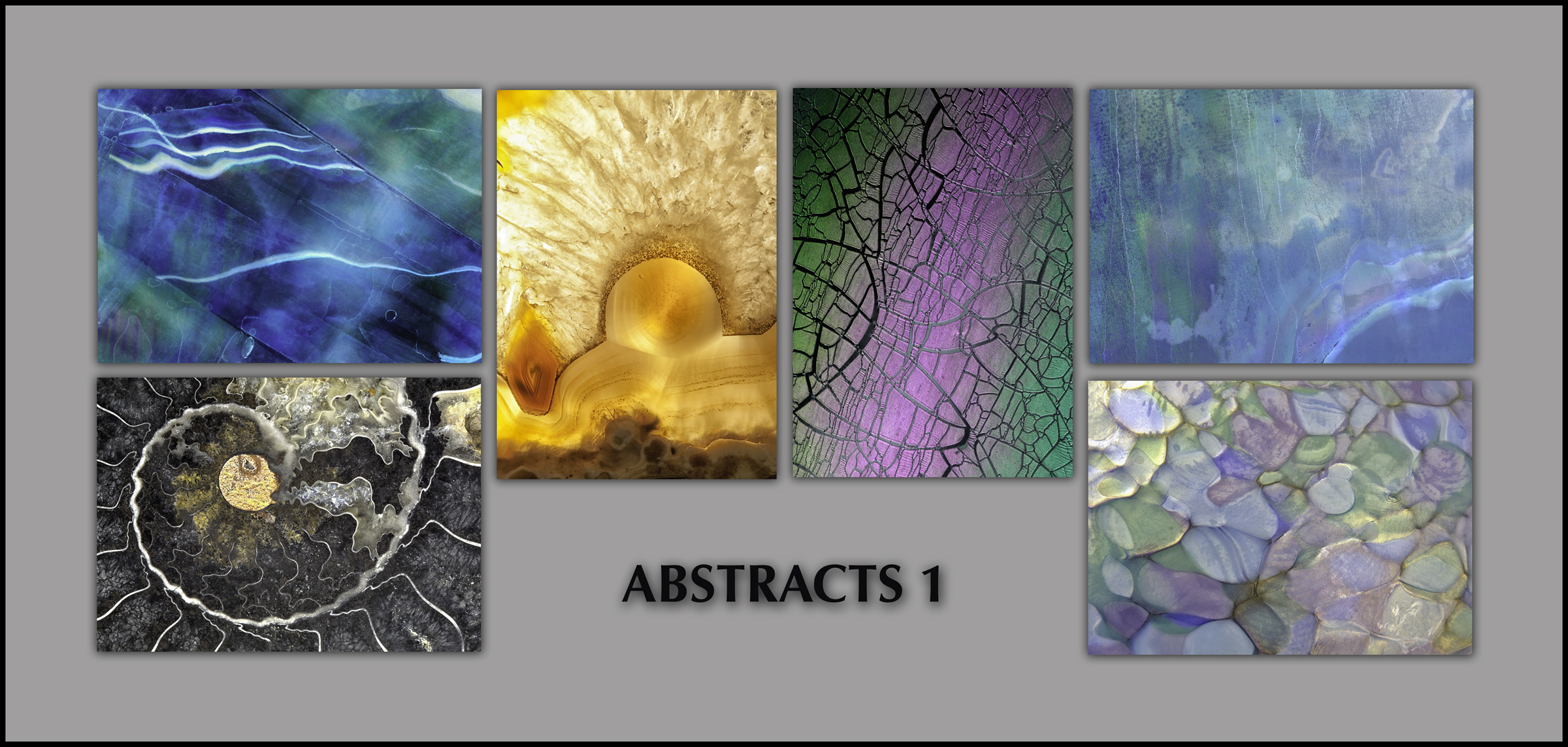 "NOTECARDS: ""Abstracts"" - set of 6 different notecards, each 5""x7"""
