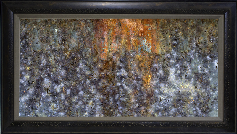 """Rust Pano"" 15""x30"" framed photograph"