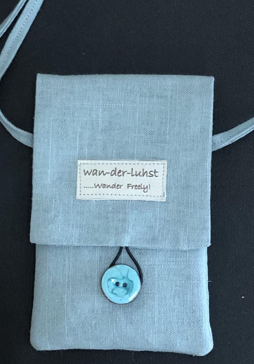 Wanderlust Linen Phone bag
