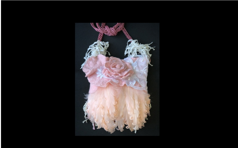 Soft Pink Feather Handbag