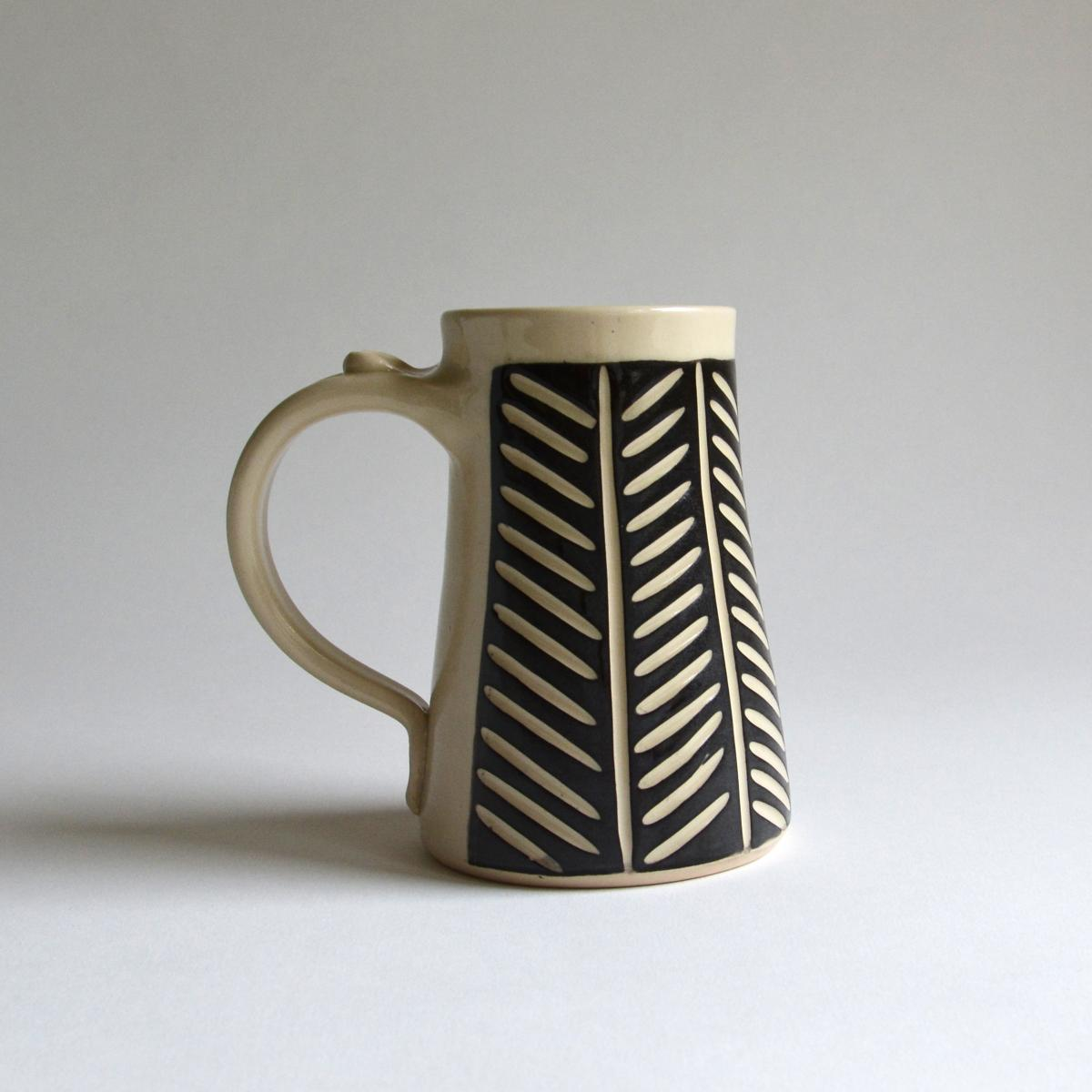 Large Mug-Herringbone