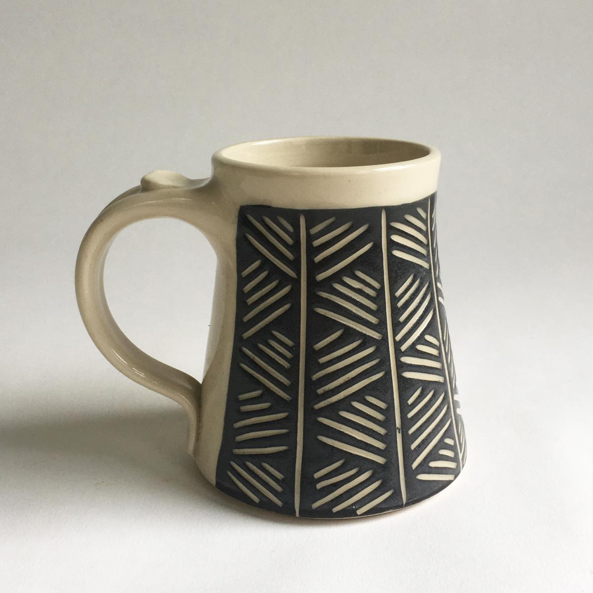 Black and White Mug-Crosshatch
