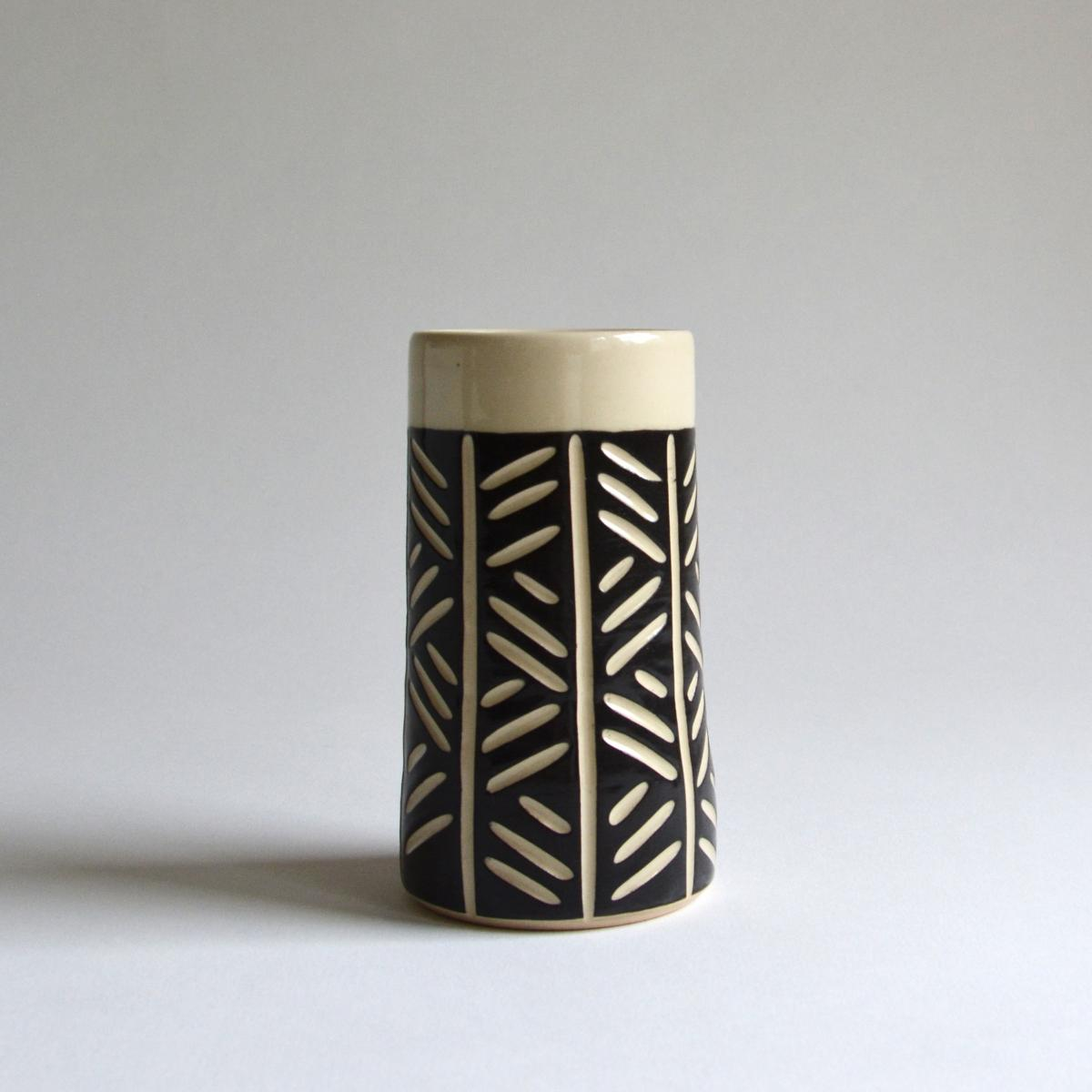 Tumbler/Vase-Crosshatch
