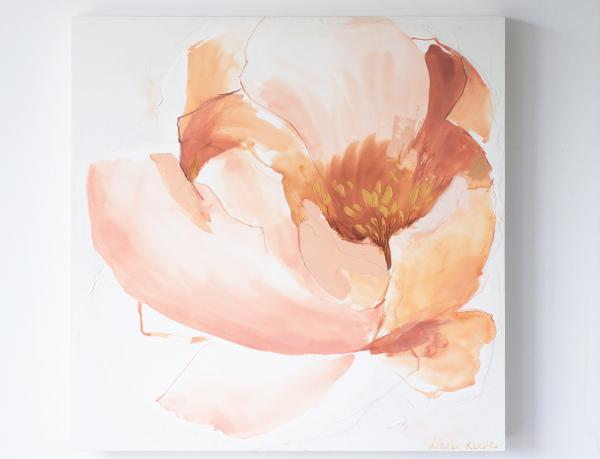 "Abstract Peony Painting 30"" X 30"""