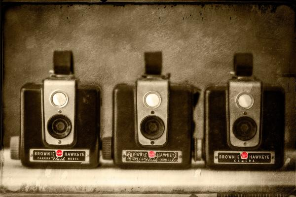 Brownie Hawkeye Cameras, Three