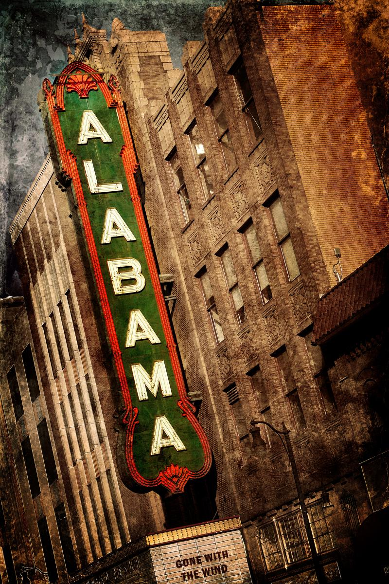 Alabama Theatre Sign, Right Side