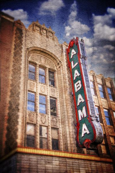 Alabama Theatre Sign, Left Side