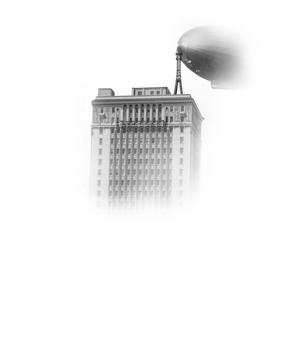 Fog Series, Thomas Jefferson Towers with Zepplin