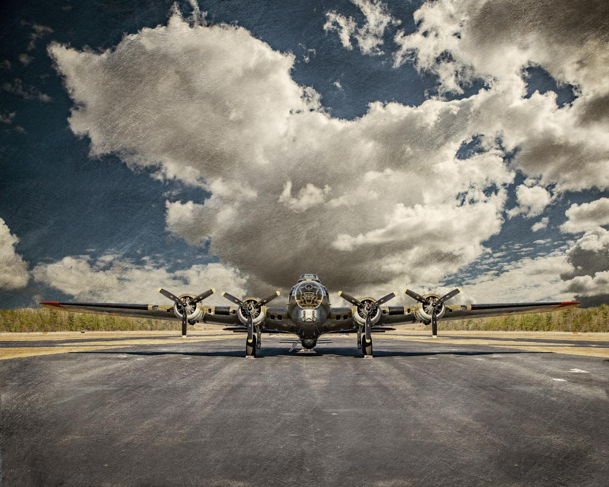 B-17 Flying Fortress on the Tarmac