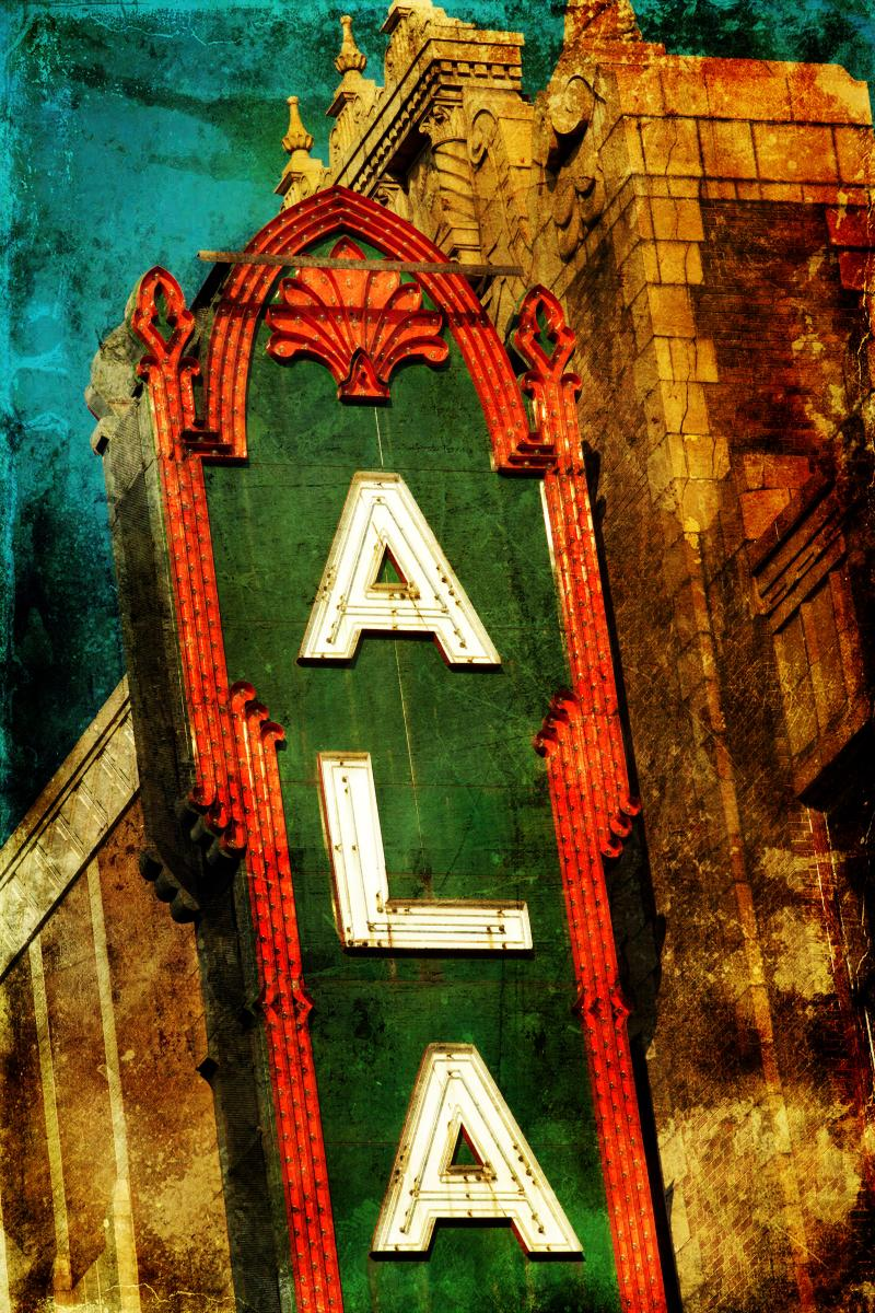 Alabama Theatre Sign, top portion