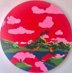"Untitled 18"" round JLW Painting"