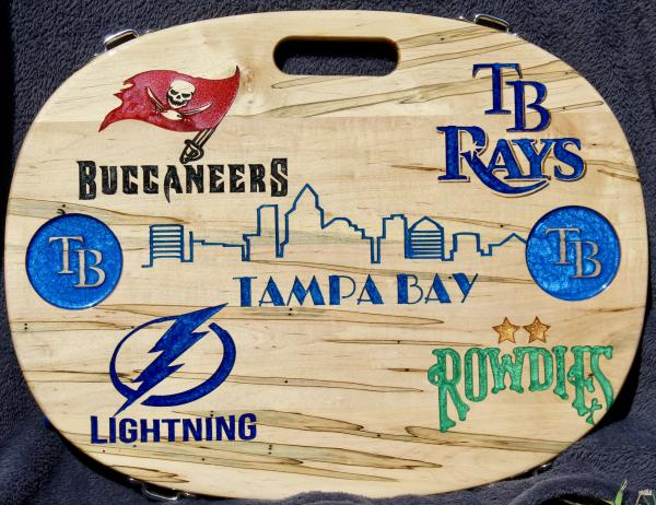 Tampa Bay Teams Oval Table