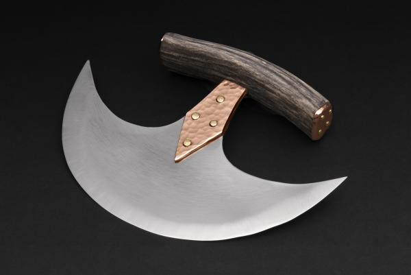 File Blade Chopper with Antler Handle