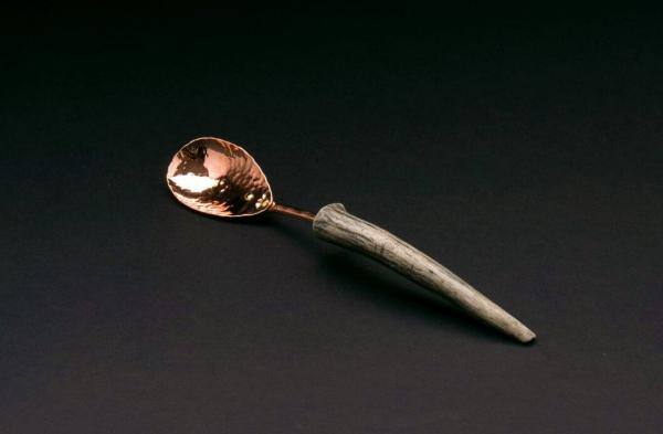 Copper Relish Spoon w/ Antler Point Handle