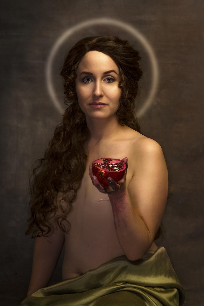 "For Saint Agatha  (17"" x 25"" archival pigment print )"