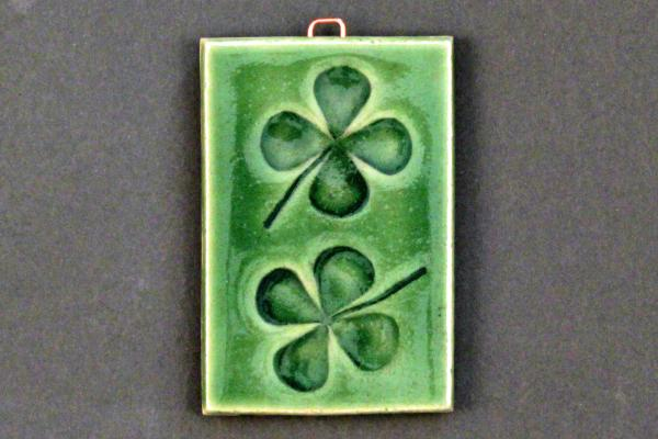 "2""x3"" Four Leaf Clover Ceramic Tile picture"