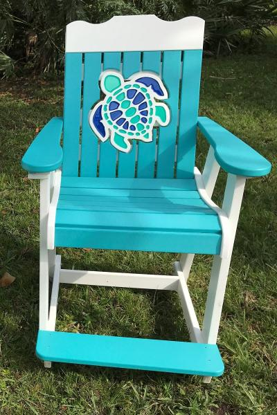 Turtle Back counter Chair