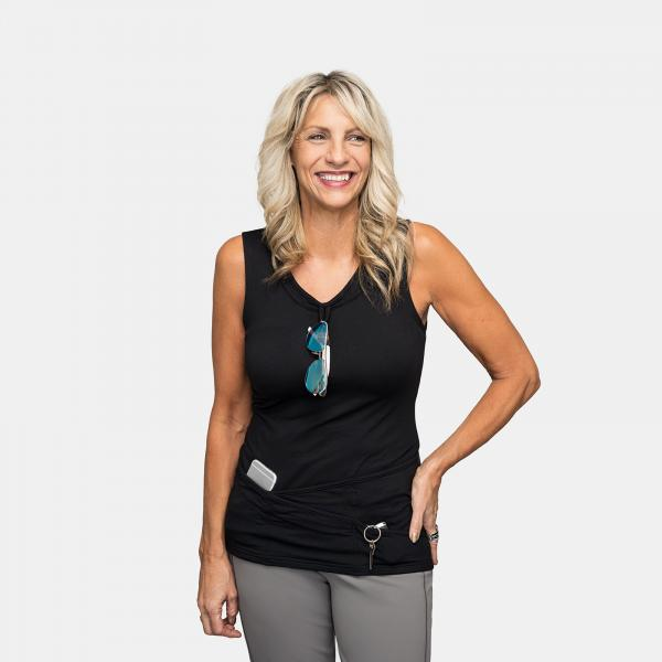 TuckTop Tank in Black