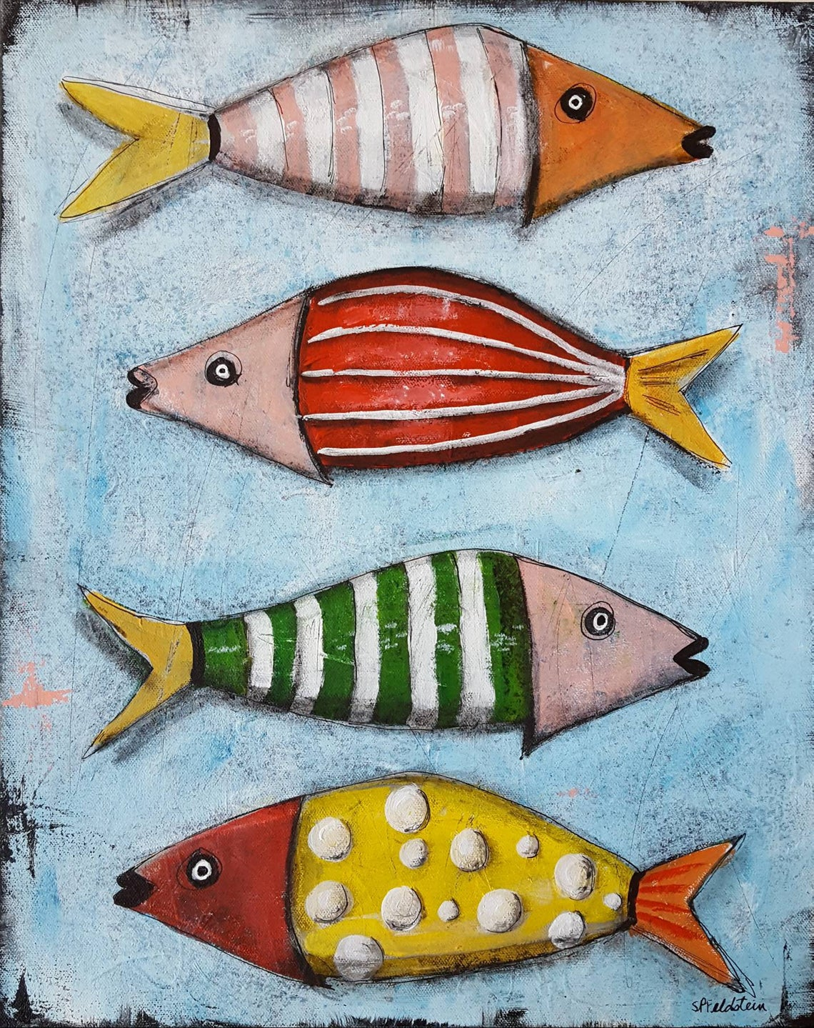 Whimsical FISH Painting | 16x20