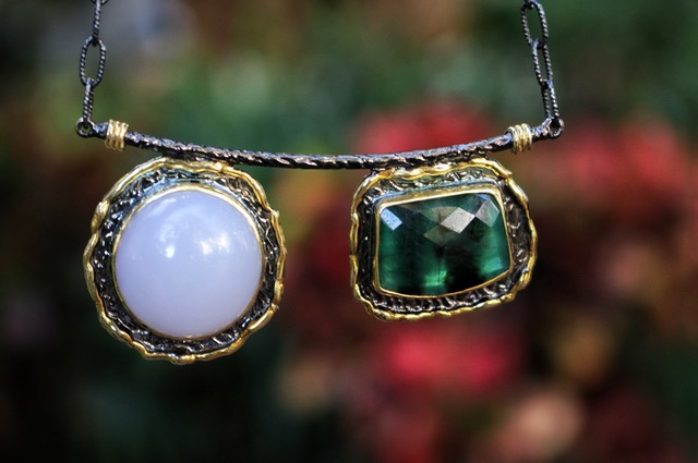 Emerald and Chalcedony