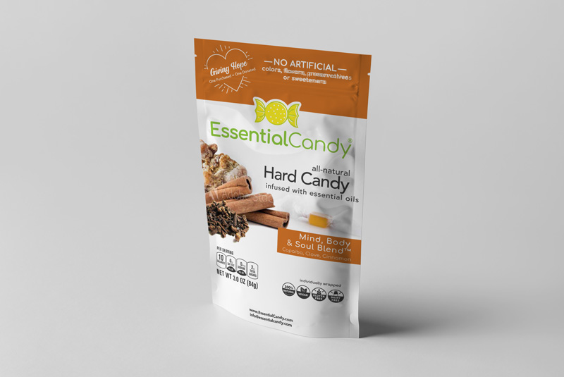 MIND BODY AND SOUL BLEND HARD CANDY WITH COPAIBA, CINNAMON AND CLOVE