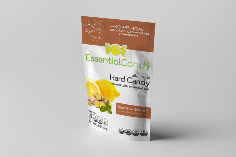 DIGESTIVE BLEND HARD CANDY WITH LEMON, GINGER, AND PEPPERMINT