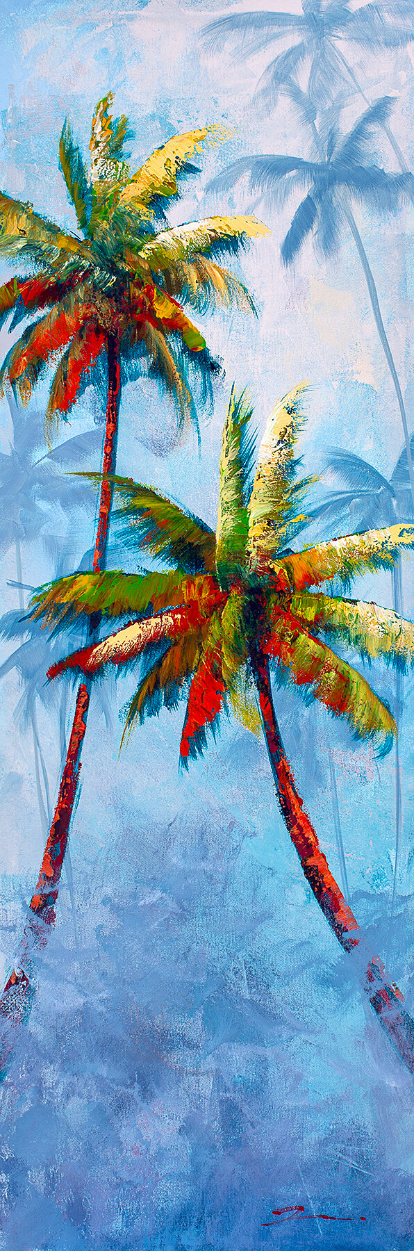 "Salty Breeze 12x36Salty Breeze is an original acrylic painting by Rosa Chavez on a gallery wrapped canvas measuring 12"" x 36"" x 1.5"". Tropical Paradis"