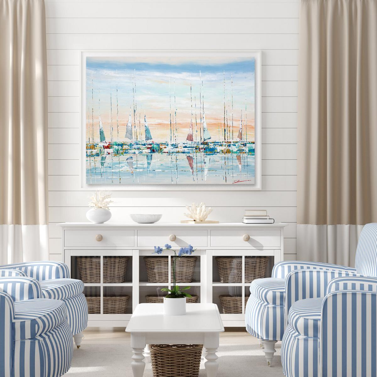 Sailing On a Summer Day 48x36