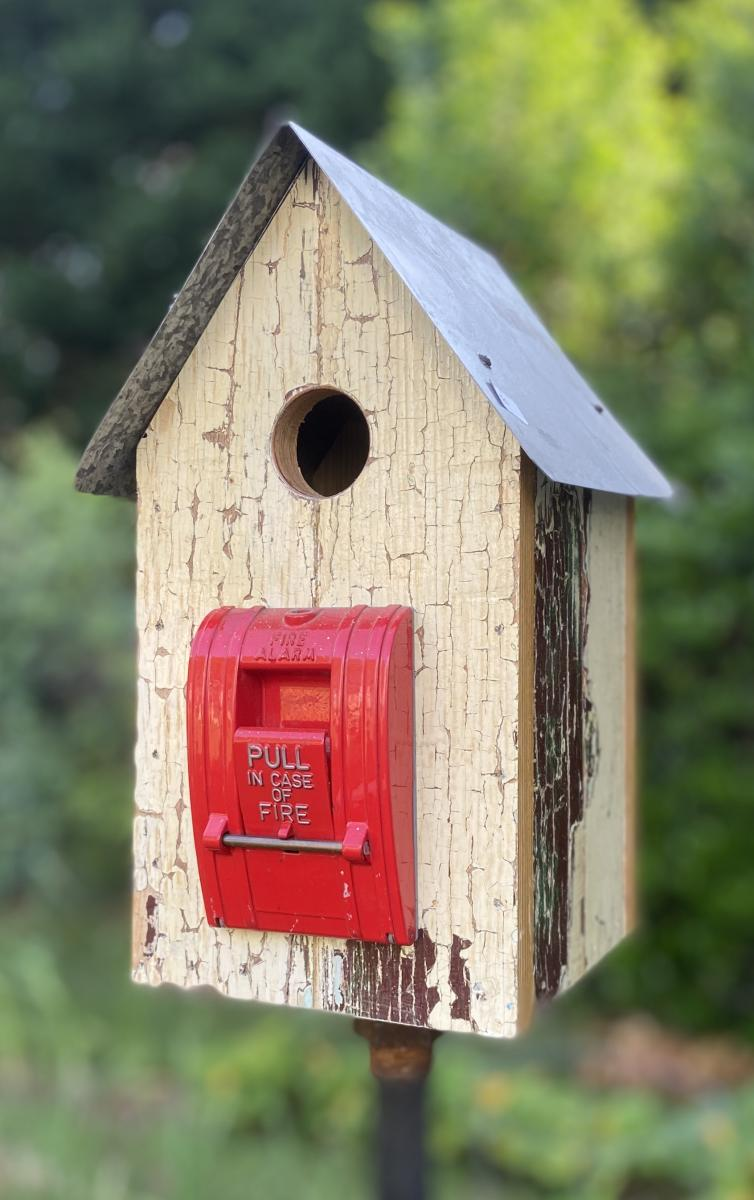 Fire alarm pull station birdhouse