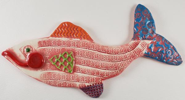 Red Ceramic Fish