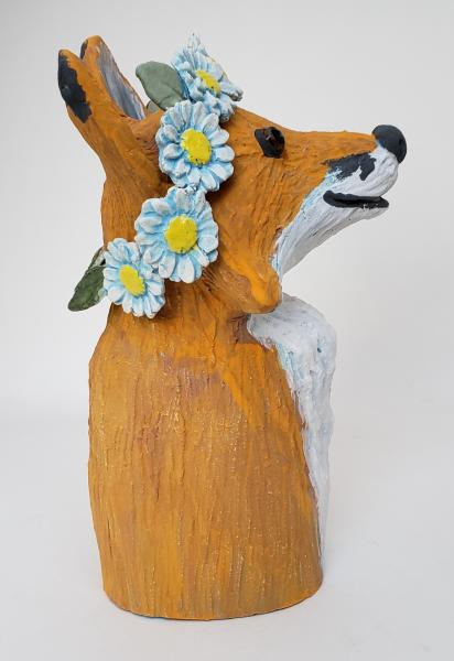 Fanny Fox Wears a Daisy Headband picture