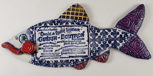 Chocolate Label Ceramic Fish