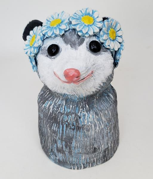 Polly Possum Wears a Daisy Headband
