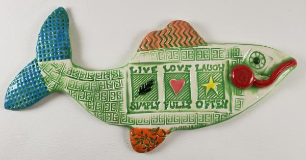 Live Love Laugh Ceramic Fish