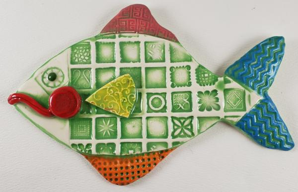 Green Squared Ceramic Fish picture