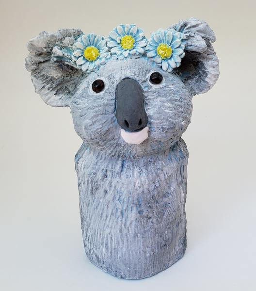 Konstance the Koala Bear Wearing a Daisy Headband