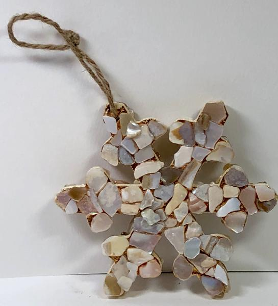 Abalone snowflake ornament