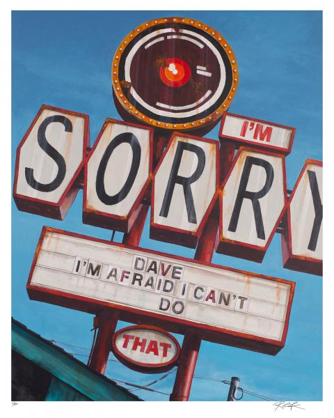 """Sorry Dave"" Embellished Giclèe"
