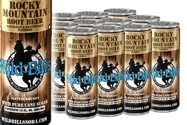 Rocky Mountain Root Beer – Creamy, Pure Cane Sugar Soda Pop – Case Pack, (12) 12 OZ Sleek Cans