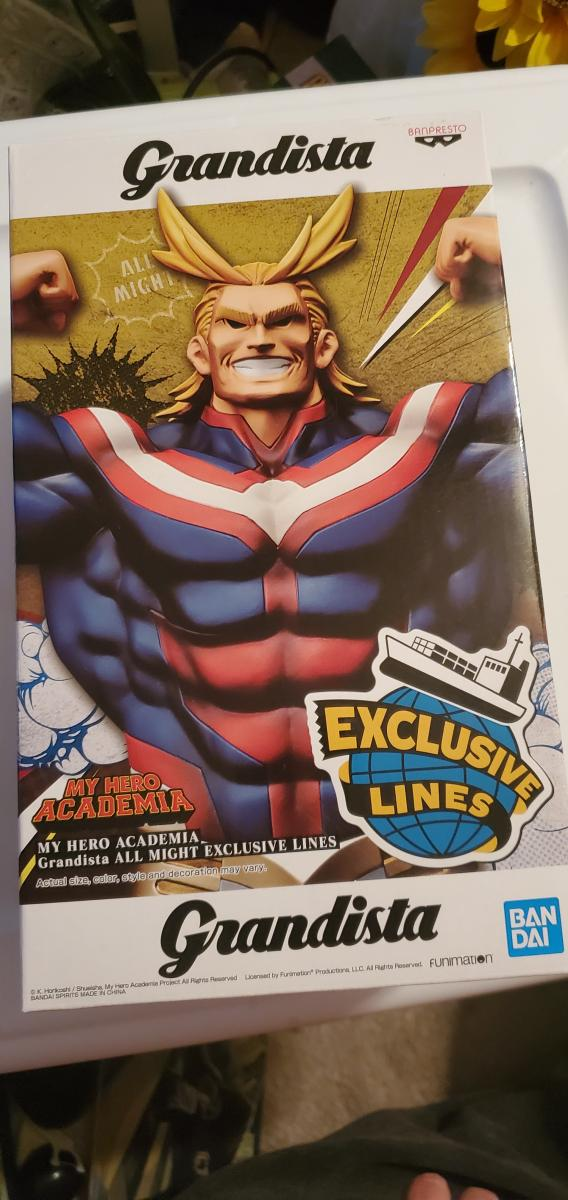 My hero academia Grandista all might exclusive lines figure