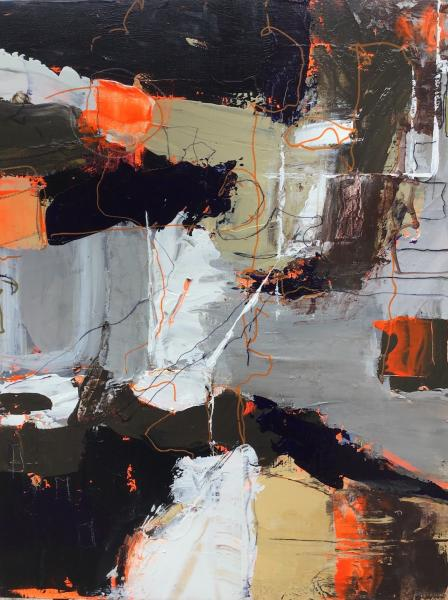 Rocky Diptych - Orange
