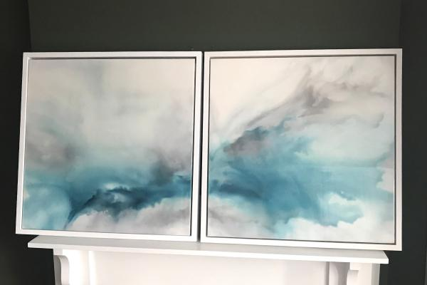 Emerge diptych
