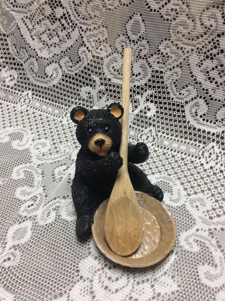 Black Bear Spoon Rest