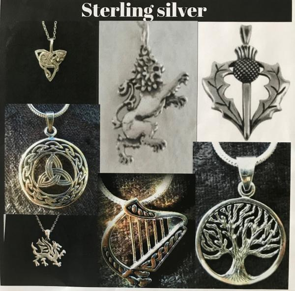 Sterling Silver Pendants+Chain