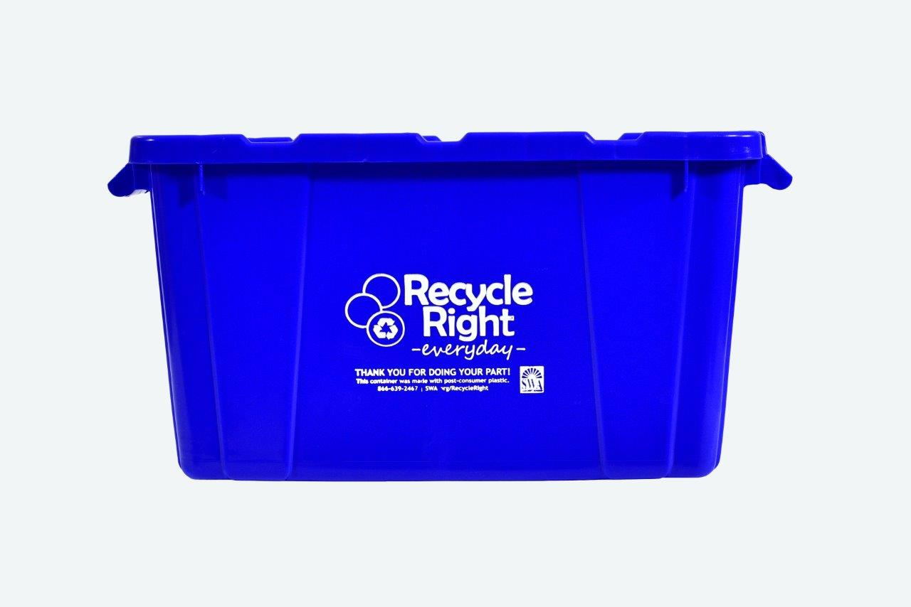 Blue 18-Gallon Recycling Bin