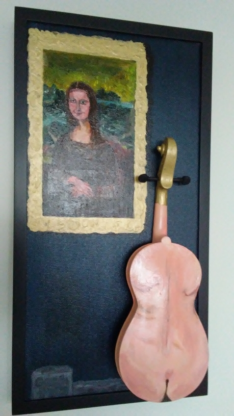 Mona Lisa Studying Nude Violin Lady