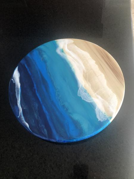Ocean Waves and the Beach Lazy Susan