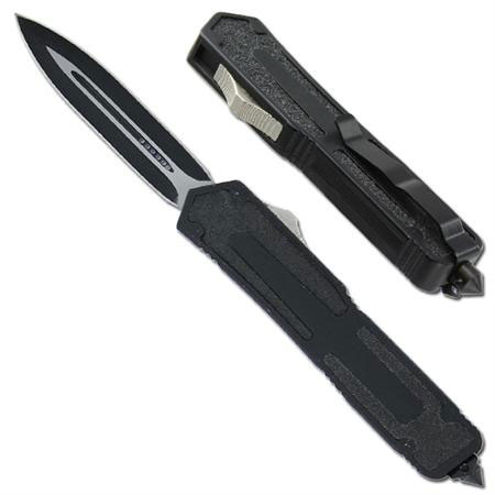 Titan Originator OTF Double Edge Auto Knife Black